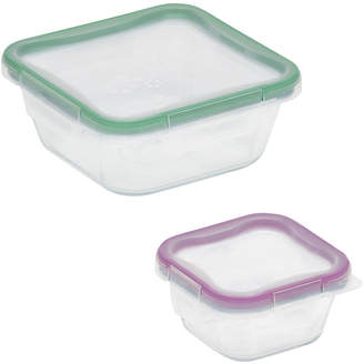 Snapware Total Solution 4-pc. Square Glass Food Storage Set