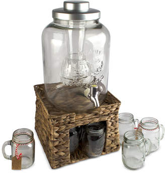 Artland 8-Pc. Oasis Garden Terrace Beverage Stand & Dispenser Set
