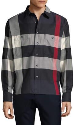Burberry Plaid Sportshirt