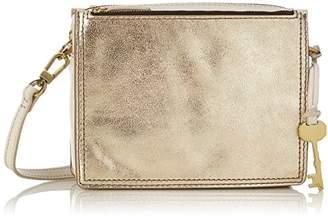 Fossil Damen Tasche Campbell - Crossbody, Women's Cross-Body Bag, Gold (Pale Metallic), 6.1x15.2x19.7 cm (B x H T)