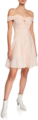 Astr Brittany Sweetheart Off-the-Shoulder A-Line Dress