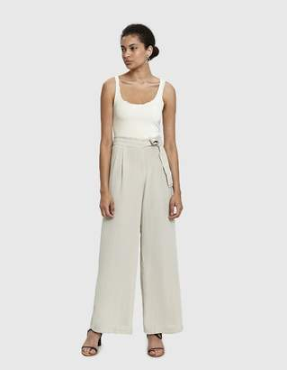 Stelen Abrielle Belted Wide Leg Pant in Champagne