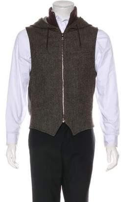 Dolce & Gabbana Wool-Blend Herringbone Vest