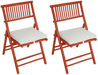 One Kings Lane Set of 2 Champion Side Chairs - Orange