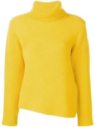 Cédric Charlier asymmetric turtleneck sweater