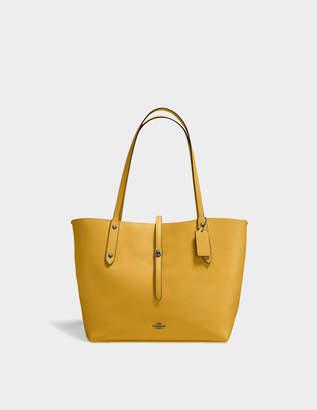 Coach Market Tote Bag in Yellow Calfskin