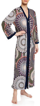 Diamond Tea Gown Floral-Print Easy-Fit Caftan