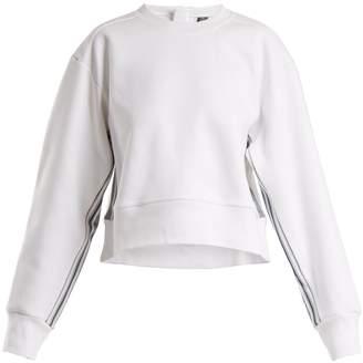 adidas by Stella McCartney Train crew-neck cropped sweatshirt