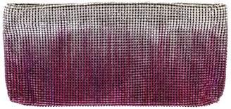 Christian Louboutin Purple Cloth Clutch Bag