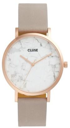 Women's Cluse La Roche Marble Leather Strap Watch, 38Mm $179 thestylecure.com