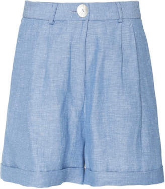Blend of America Christine Alcalay Linen mini shorts