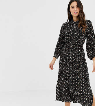 211203671f4 Fashion Union midi shirt dress in floral heart print