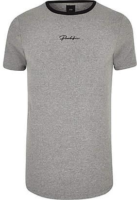 River Island Big and Tall grey 'Prolific' curve T-shirt
