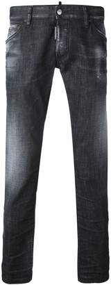 DSQUARED2 washed slim jeans