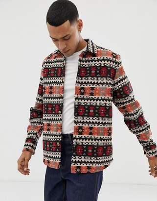 Asos Design DESIGN geo-tribal jacquard overshirt
