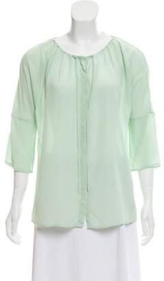 Calypso Silk Button-Up Blouse