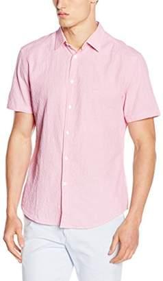 Esprit Men's Searsuck Str Regular Fit Short Sleeve Casual Shirt