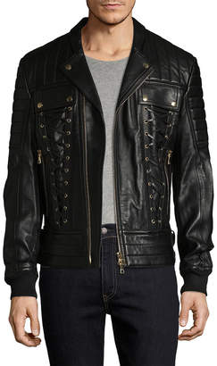Balmain Lace-Up Solid Jacket