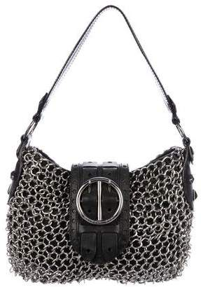 Michael Kors Chain-Link Leather Shoulder Bag