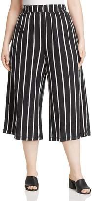 Eileen Fisher Plus Striped Wide-Leg Crop Pants