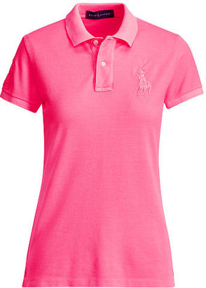Ralph Lauren Pink Pony Pink Pony Patch Polo Shirt $98.50 thestylecure.com