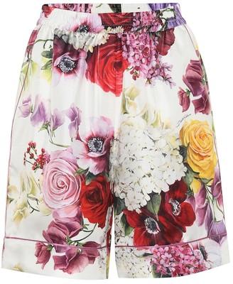 Dolce & Gabbana Floral silk shorts