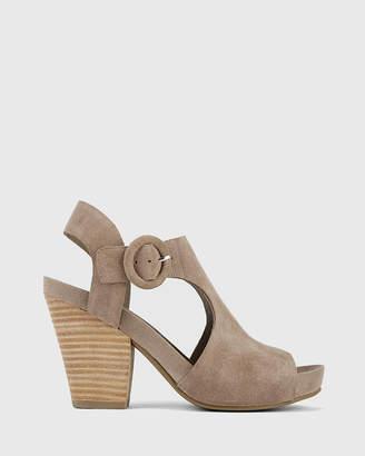 Cleary Open Toe Block Heel T-Bar Sandals