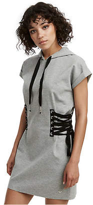 True Religion WOMENS HOODED LACE UP DRESS