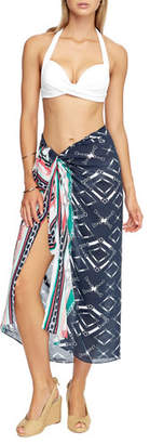 Jets Printed Pareo Coverup
