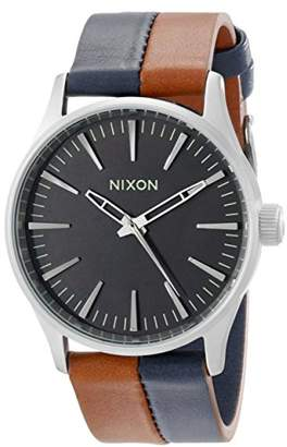 Nixon Men's A3771957 Sentry 38 Leather Watch