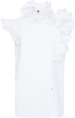 Lanvin Sleeveless Blouse with Ruffles $1,590 thestylecure.com