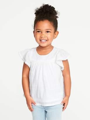 Old Navy Flutter-Sleeve Dobby Top for Toddler Girls