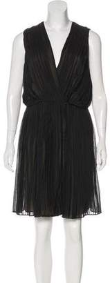 Robert Rodriguez Pleated Silk Dress w/ Tags