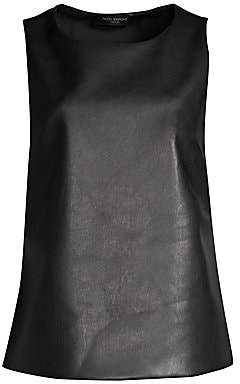 Piazza Sempione Women's Sleeveless Faux-Leather Top
