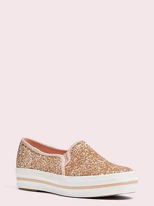 Kate Spade Keds x triple decker glitter sneakers