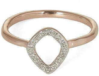 Monica Vinader Rose Gold-Plated Riva Mini Kite Diamond Stacking Ring