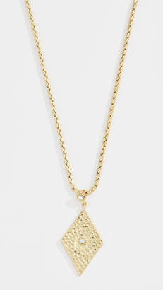 Luv Aj Hammered Triangle Charm Necklace