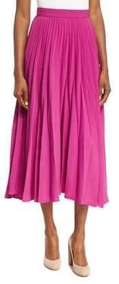 Co Reverse-Pleated Midi Skirt
