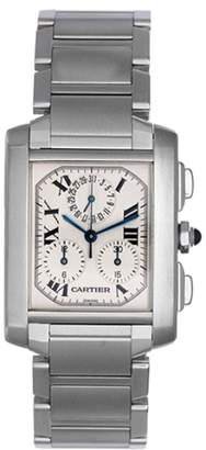 Cartier Tank Francaise W51001Q3 Stainless Steel Quartz 36mm Mens Watch