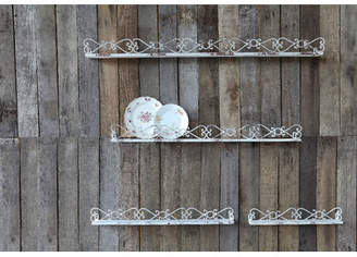 One Allium Way Quint 4 Piece Iron Ledges Shelf Set