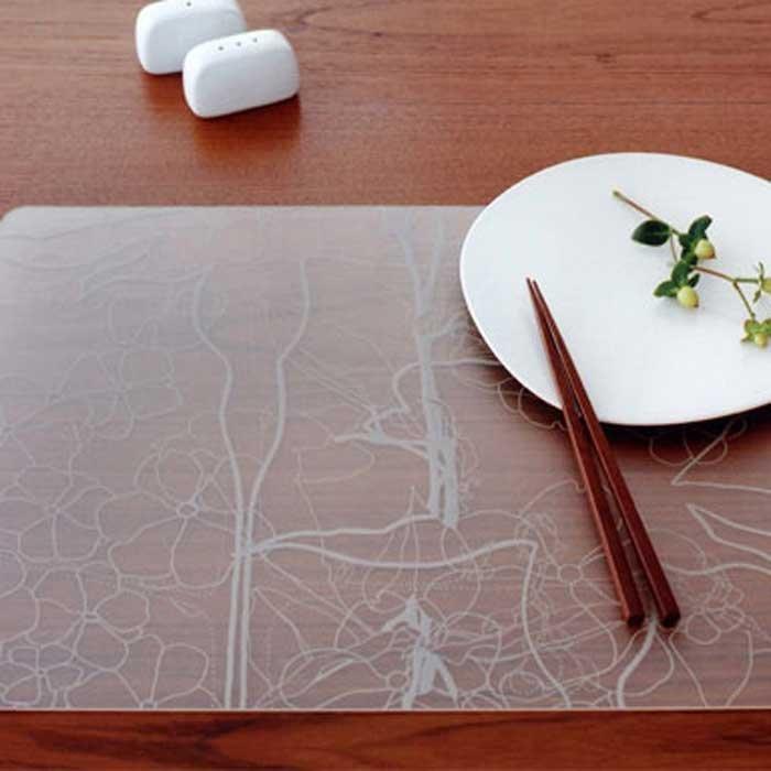 Modern-Twist Placemat Floral Grey