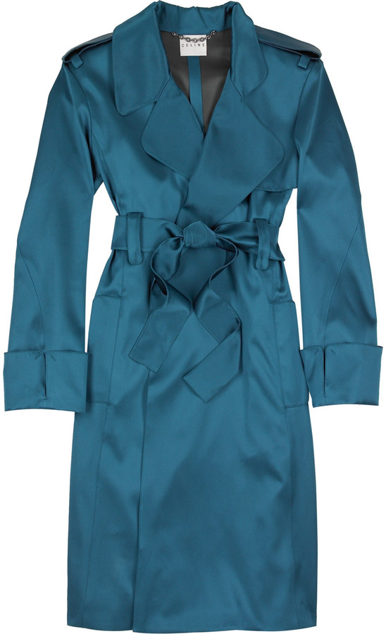 Celine Silk trench coat
