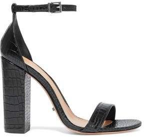Schutz Enida Croc-Effect Leather Sandals