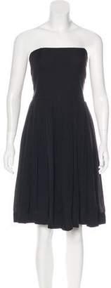 Armani Collezioni Pleated Silk Dress