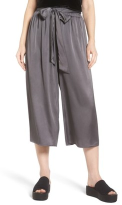 Women's Soprano Crop Satin Wide Leg Pants $45 thestylecure.com