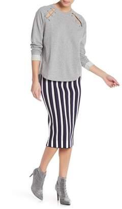Rachel Roy Wren Striped Knit Midi Skirt