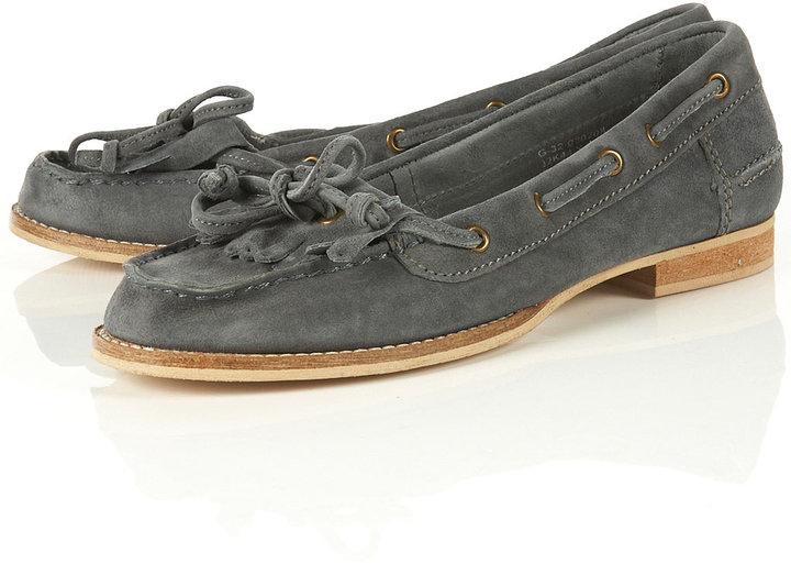 KANOE Denim Blue Boat Shoe Loafers