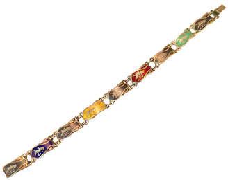 One Kings Lane Vintage Siam Sterling Multicolor Niello Bracelet