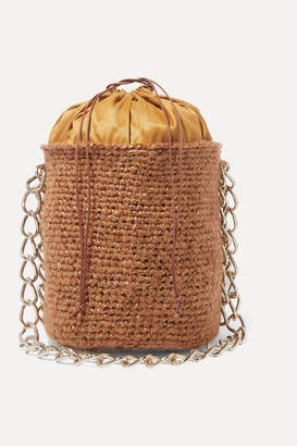Carolina Santo Domingo Woven Mohair And Raffia Shoulder Bag - Brown