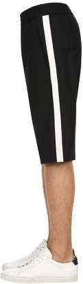 Neil Barrett Stretch Fine Gabardine Wool Shorts